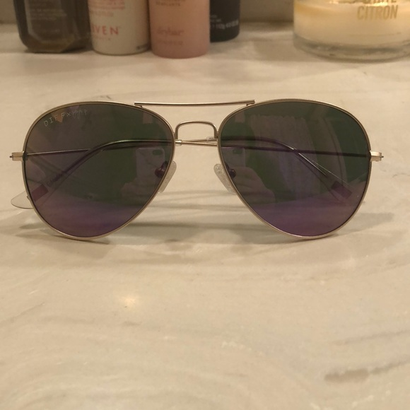 4edfb9d11f Diff Eyewear Accessories - Diff x Jojo Cruz Edition 57mm Aviator Gold Purple